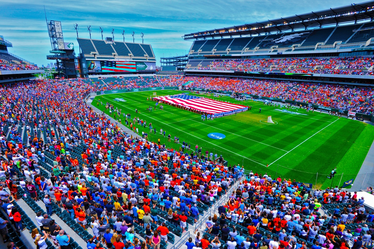27 MAY 2013: The Division I Men's Lacrosse Championship held at Lincoln Financial Field in Philadelphia, PA. Duke defeated Syracuse 16-10 for the national title. Larry French/NCAA Photos